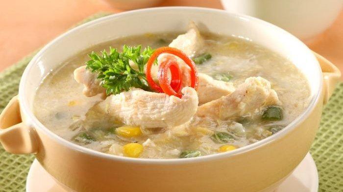 sup jagung ayam fillet