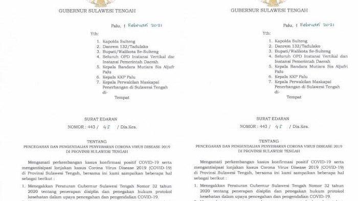 Kasus Covid-19 di Sulteng Terus Bertambah, Gubernur Longki Serukan Pembatasan Kegiatan di Kabupaten