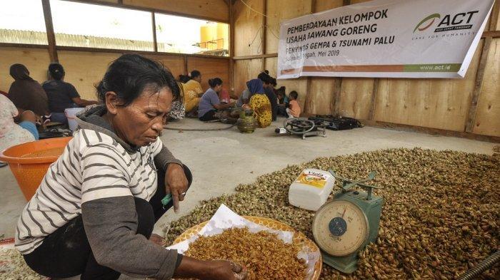 Bantu Pulihkan Ekonomi Warga Sigi, ACT Bentuk Kelompok Usaha Bawang Goreng