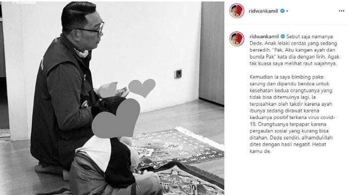 Kisah 'Dede', Bocah yang Diasuh Ridwan Kamil setelah Kedua Orangtuanya Dinyatakan Positif COVID-19