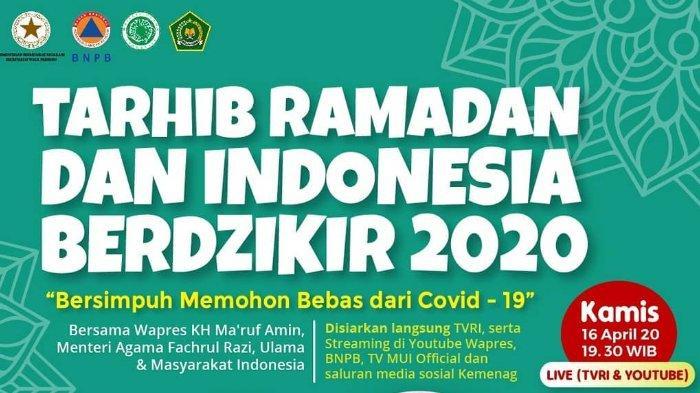 Sambut Ramadhan, Kemenag Gelar Zikir Bersama: Disiarkan Langsung di TVRI dan Media Sosial