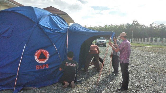 Gempa Tojo Una-una: 23 Bangunan Rusak, BPBD Dirikan Tenda Pengungsi di Rujab Bupati