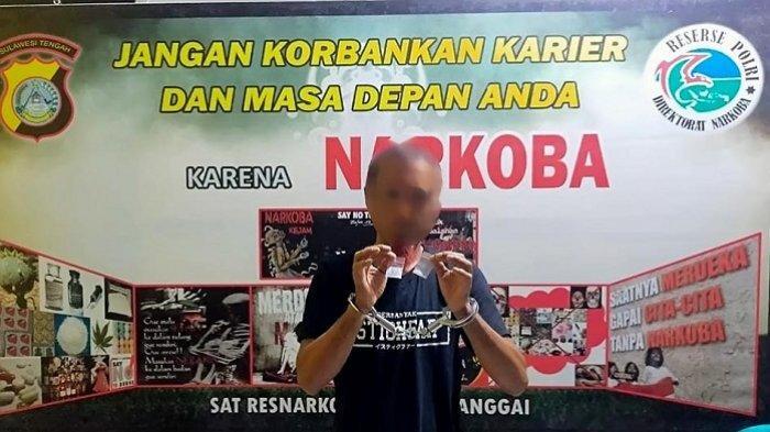 Seorang Sopir di Banggai Ditangkap Polisi saat Hendak Transaksi Narkoba