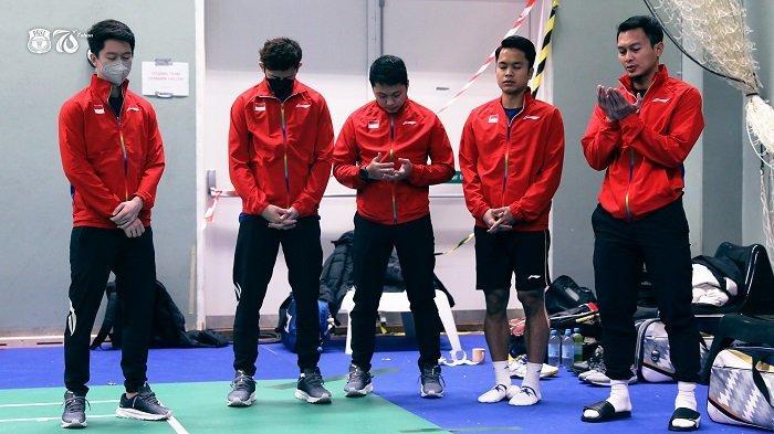 Drawing Perempat Final Thomas Cup 2020: jadi Juara Grup A, Indonesia Lawan Malaysia Besok Sore