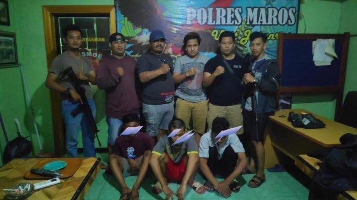 Jadi Begal, 3 Remaja Masih Berstatus Pelajar di Mandai Ditangkap Polres Maros