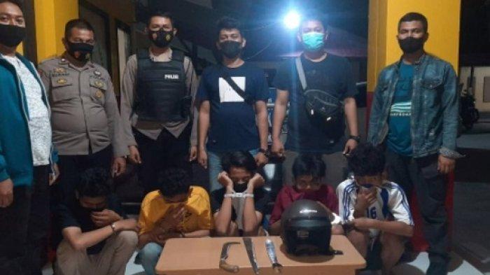 Polisi Bekuk 5 Tersangka Pembacokan di Jembatan Lalove Palu, Korban Alami Luka Serius di Bokong
