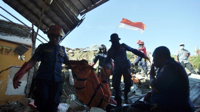 Damkar Kota Palu Temukan 6 Jenazah Korban Likuifaksi Palu 9 Bulan pasca Kejadian