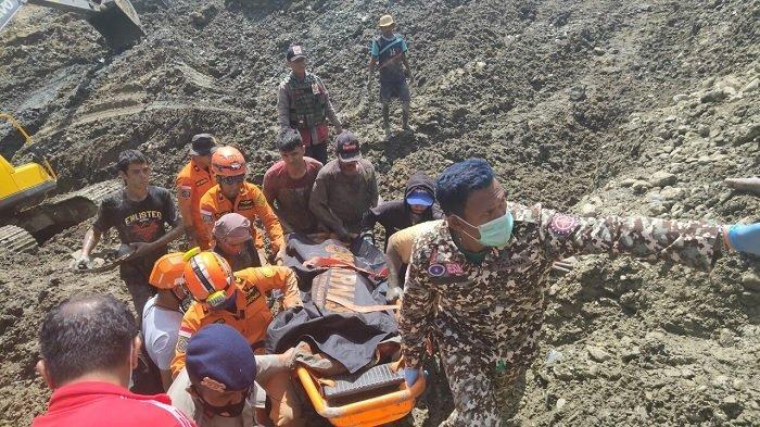 Pencarian Hari Keempat Korban Longsor Tambang Desa Buranga, Tim SAR Temukan Bagian Tubuh Manusia