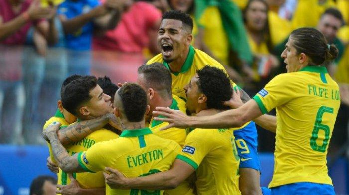 Update Skor Semifinal Copa America 2019, Brasil vs Argentina, Brasil Sementara Unggul 1-0