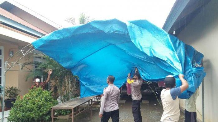 Aparat Gabungan Bongkar Tenda Pernikahan di Toili Banggai
