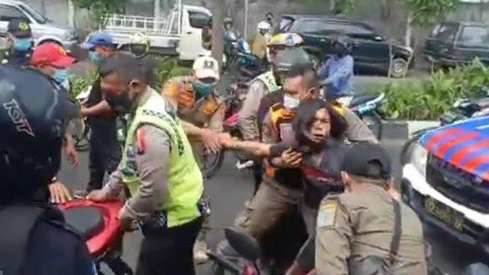 Pria yang Berontak Saat Razia Protokol Kesehatan di Surabaya Ungkap Alasannya Menolak Dibawa Petugas