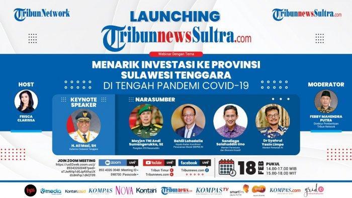 Tribun Network Luncurkan Portal ke-51 TribunnewsSultra.com, Hadirkan Menteri Sandiaga Uno dan SYL