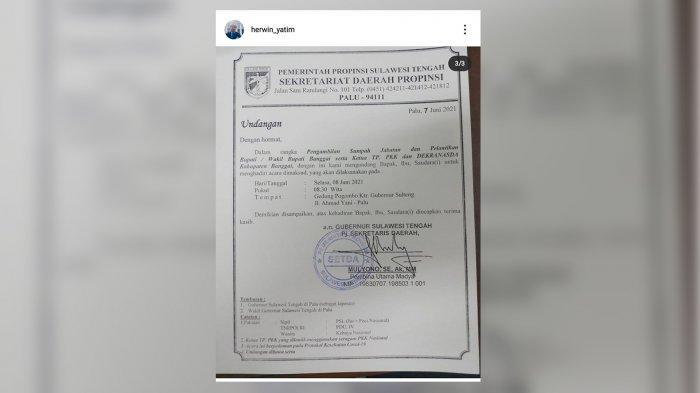 Kantongi Undangan Pelantikan Bupati Banggai Terpilih, Begini Tanggapan Herwin Yatim