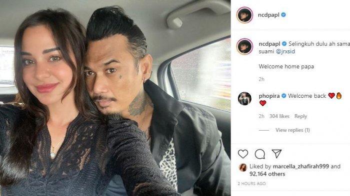 Jerinx SID Hari Ini Bebas, Nora Alexandra Langsung Bagikan Momen Mesra Bersama Suami di Instagram