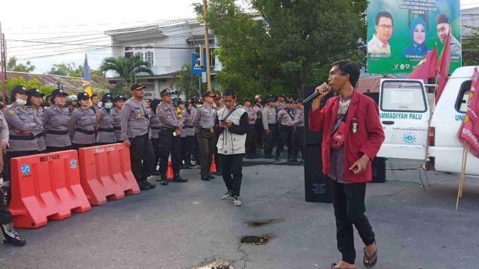 Polda Sulteng Turunkan Ratusan Polisi untuk Amankan Demo Solidaritas Penembakan Mahasiswa UHO