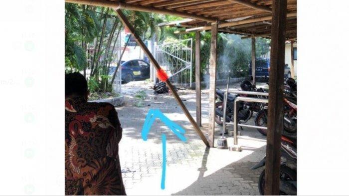 Diduga Ledakan di Makassar Adalah Bom Bunuh Diri, Pelaku Terkapar Ditempat, Motor Terbakar
