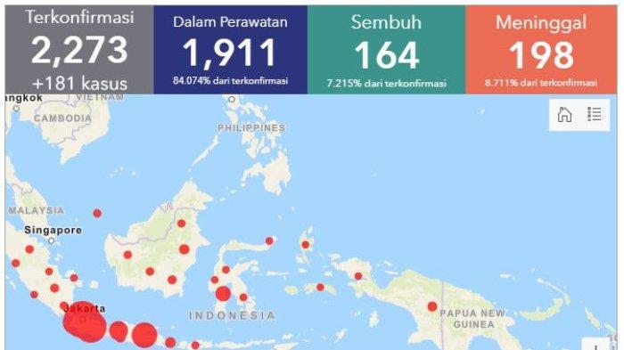 BREAKING NEWS: Total 2.273 Kasus Virus Corona di Indonesia per Minggu (5/4/2020)