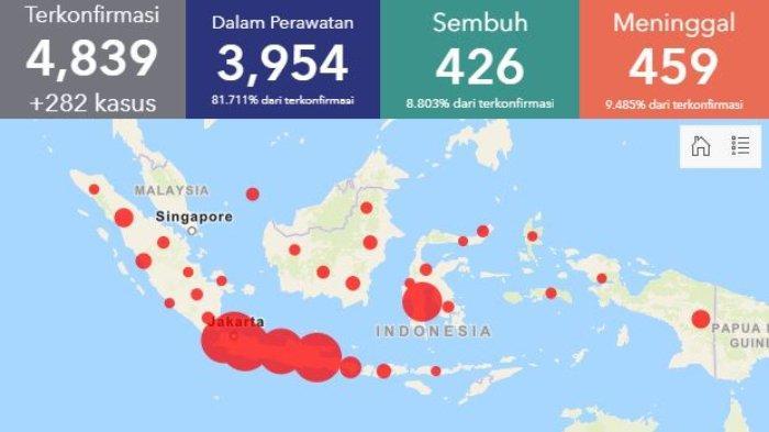 Update Sebaran Corona per Selasa, 14 April 2020, Achmad Yurianto: Kasus Kematian Hampir Merata