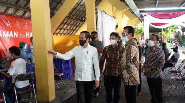 Presiden Jokowi Apresiasi Pelaksanaan Vaksinasi Covid-19 Bagi 19.900 Pedagang di Pasar Beringharjo