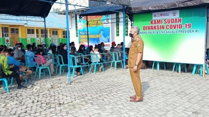 330 Warga Serbu Gerai Vaksinasi di Masjid Baiturrahim Lolu Utara Palu