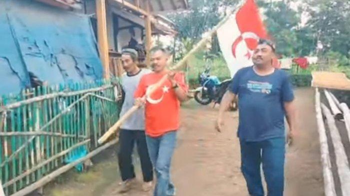 Heboh Video Pengibaran Bendera Negara Islam Indonesia di Garut, Salah Satu Pria Ajak PBB Bergabung