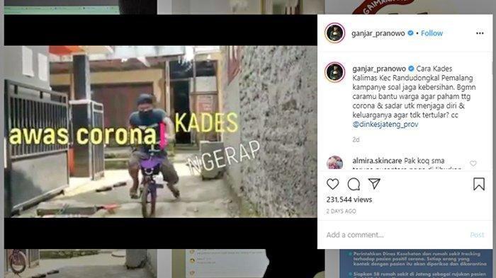 Viral Video Kades Kampanyekan Cegah Virus Corona dengan Cara Ngerap, Video Dilihat 200 Ribu Kali