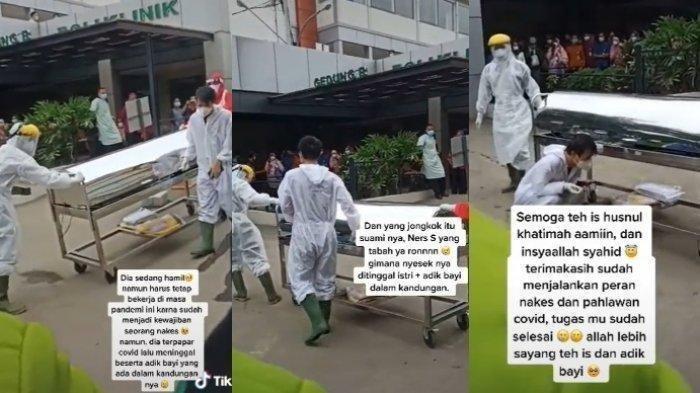 Viral Perawat di Bekasi Meninggal Karena Covid Saat Hamil 7 Bulan, Isak Tangis Iringi Pemulasaran