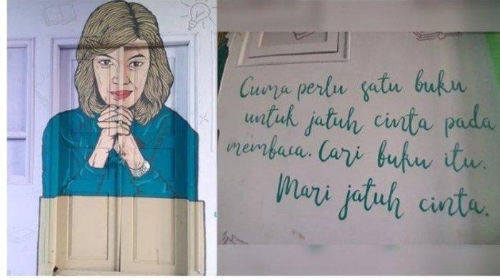 Viral Sosok Najwa Shihab Dijadikan Mural di Dinding Perpustakaan Sekolah, Begini Asal Usulnya