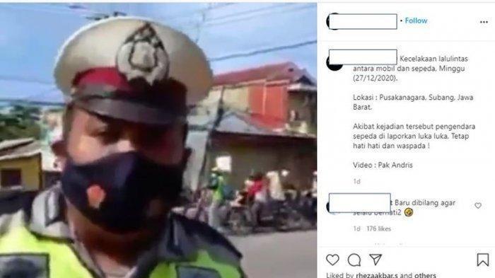 Viral di Medsos, Kecelakaan di Belakang Polisi yang Buat Video Instagram Imbauan Hati-hati di Jalan