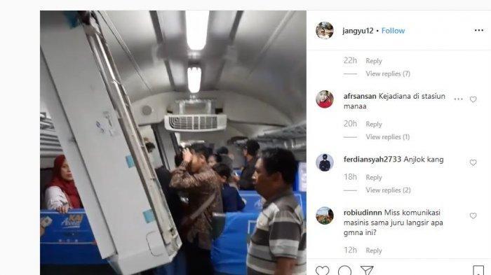 Viral Video AC Ambruk di Kereta Jurusan Cicalengka-Bandung, PT KAI Angkat Bicara