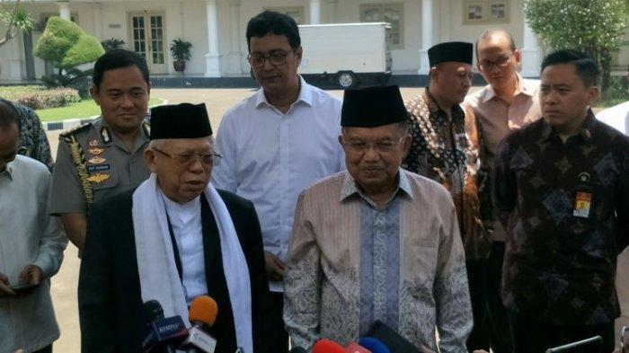 Jelang Pelantikan, Wapres Terpilih Ma'ruf Amin Tunaikan Salat Jumat Bersama Jusuf Kalla