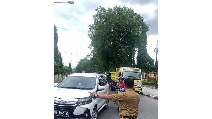 Wali Kota Hadianto Mendadak Alihkan Arus Lalilintas Pengendara di Jl Moh Yamin Palu