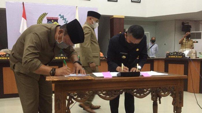Wali Kota Hadianto Hadiri Rapat Bersama DPRD Kota Palu Terkait Pertanggungjawaban APBD 2020