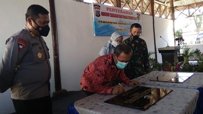 Hadiah Jelang Masa Jabatan Berakhir, Wali Kota Hidayat Resmikan Ruang Tahanan Polres Palu