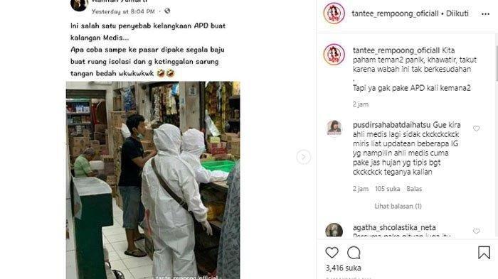 Foto Warga Kenakan APD Baju Hazmat saat Belanja di Pasar Jadi Viral, Apa Kata Para Politisi?