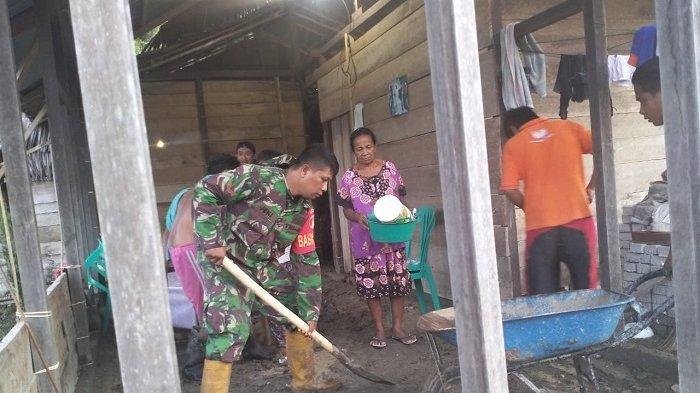 Banjir di Lobu Banggai Sudah Surut tapi Tanggul TerancamJebol, Babinsa: Warga MasihKetakutan