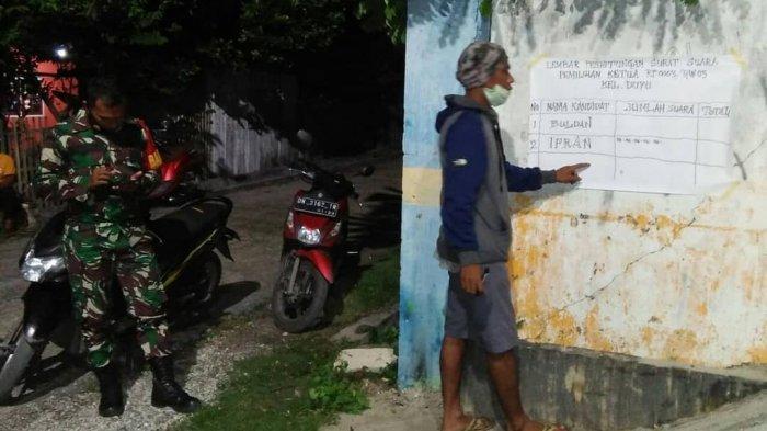 Cara Unik Warga Kelurahan Duyu Palu Gelar Pemilihan Ketua RT di Masa PPKM