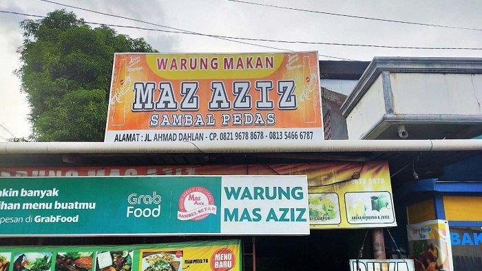 Warung Makan Mas Azis di Jl Ahmad Dahlan Kota Palu