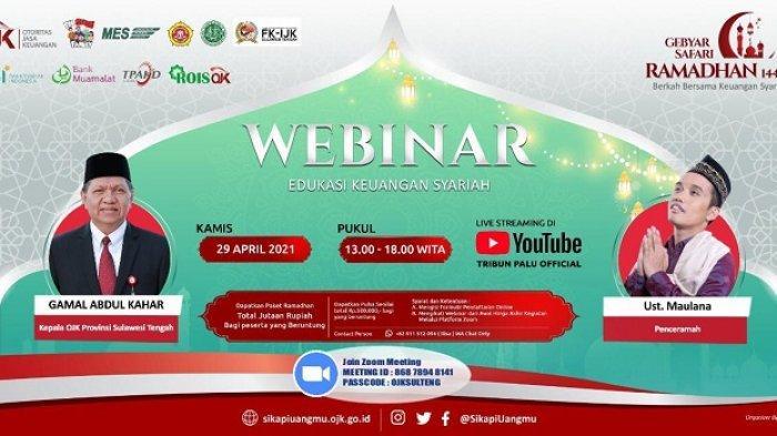 Webinar Keuangan Syariah di Palu Hadirkan Ustaz Nur Maulana, Berikut Susunannya Acaranya