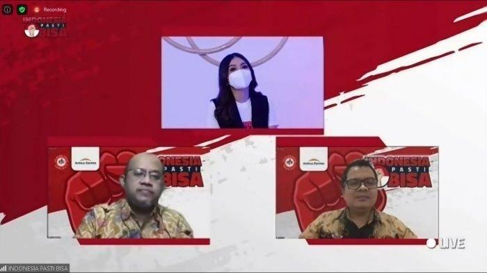 """Webinar """"Petunjuk Isoman, Konsumsi Obat, Vitamin, dan Makanan Sehat Bagi Pasien Covid-19"""" yang diselenggarakan Gerakan #Indonesiapastibisa, Rabu, 28 Juli 2021."""