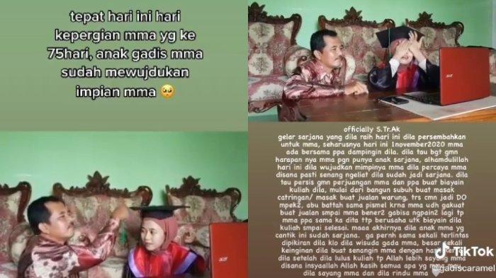 Kisah di Balik Video Viral Mahasiswi Wisuda di Hari Peringatan Meninggalnya Sang Ibunda