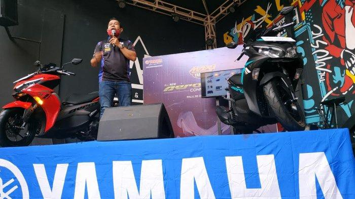 Yamaha meluncurkan All New Aerox 155VVA Connected di Star up Lounge Meet Jl Pemuda, Kelurahan Besusu Tengah, Kecamatan Palu Timur, Kota Palu Sulawesi Tengah, Sabtu (5/12/2020).
