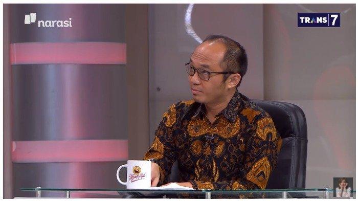 Direktur Eksekutif Charta Politika Indonesia, Yunarto Wijaya, diminta untuk menganalisis Pilkada Solo 2020 saat menjadi narasumber di acara Mata Najwa.