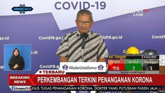BREAKING NEWS Update Covid-19 di Indonesia Kamis (16/4/2020) Total 5.516 Kasus, Kesembuhan Meningkat