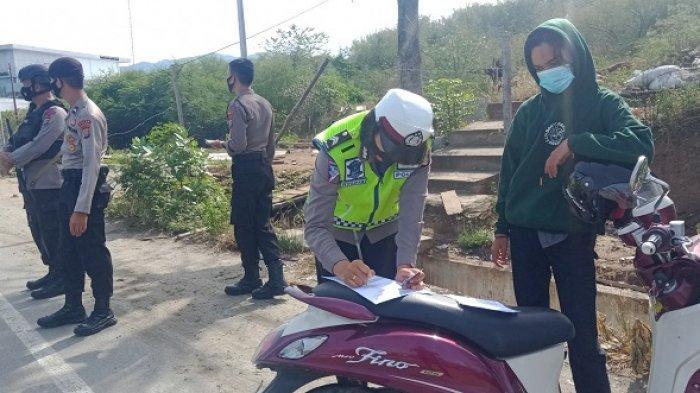 Operasi Yustisi Sasar Pengendara di Jl RE Martadinata Palu, Petugas Temukan Pelanggar Prokes