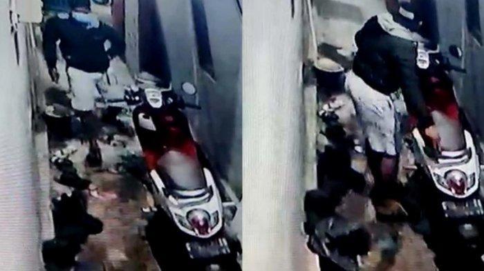 Aksi Curanmor Bobol Pagar dan Gondol Scoopy Terekam CCTV di Tegal, Polisi: Iya, Sedang Marak