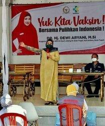 Dewi Aryani Gandeng Kemenkes dan Dinkes Kabupaten Tegal Vaksinasi 1.000 Orang Tiap Minggu