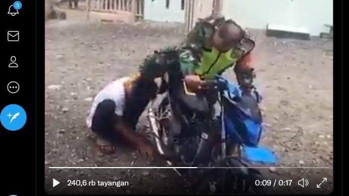 Viral, Oknum TNI Injak Kepala dan Paksa Pemotor Tempelkan Kuping ke Knalpot, Nasbinya Kini Merana