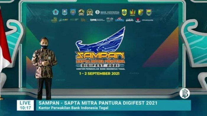 Bank Indonesia Tegal Gelar Sampan Digifest 2021, Taufik: Membentuk Ekosistem Keuangan Didigtal