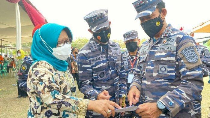 Serbuan Vaksin TNI AL di Tegal Over Target, Panglima Koarmada ll Laksda Iwan: Saya Sangat Senang